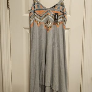 NWT Express gray sequined dress